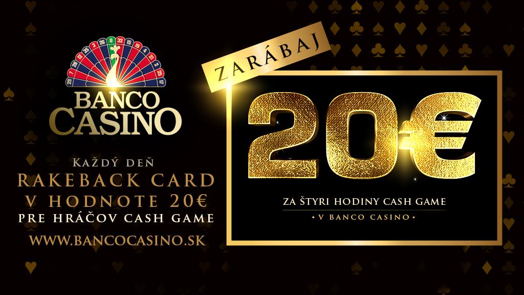 Cash Game - Rakeback 20€ denne!