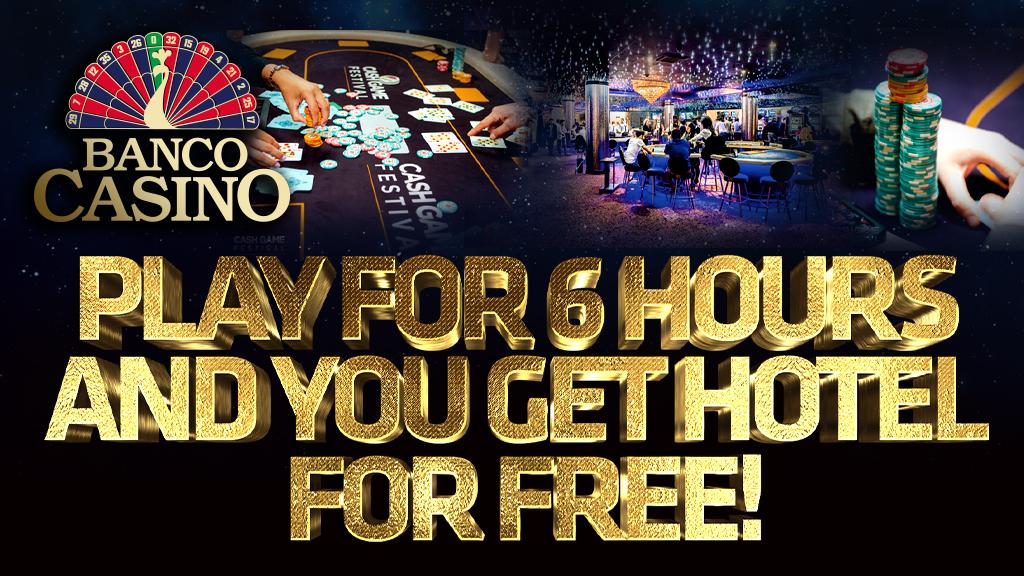 Odohrajte 6 hodín cash game a bývajte zadarmo!