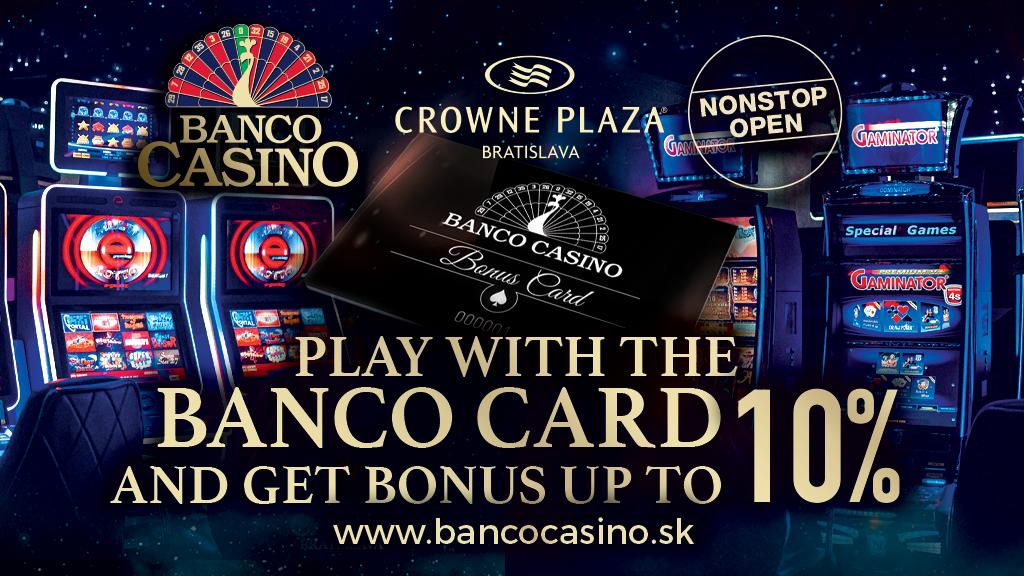 Spielen Sie mit unserer Bancokarte und erhalten Sie bis zu 10 % BONUS!