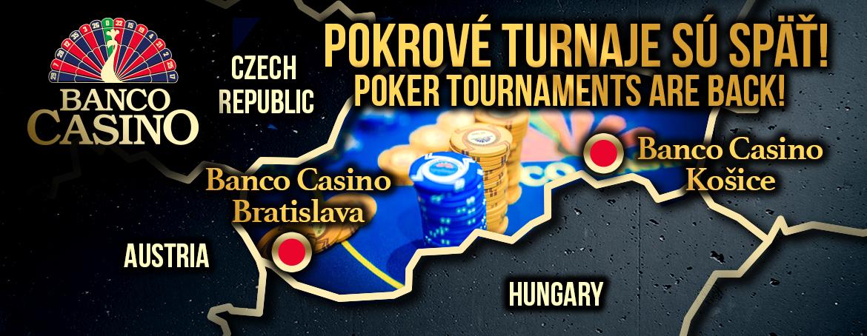 Pokerturniere im Banco Casino Bratislava sind zurück!