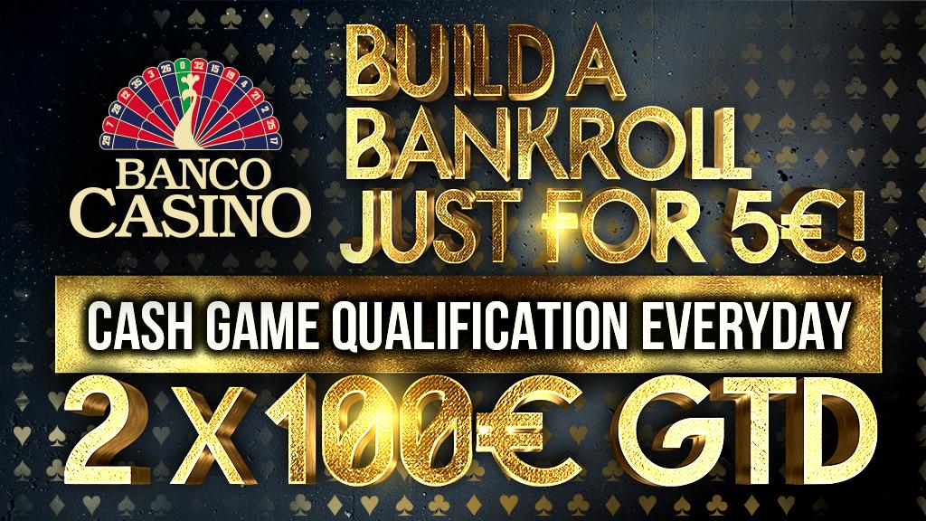 Bauen Sie eine Bankroll für Cash Game für nur 5 €
