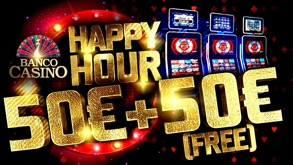 Happy Hour na výherných prístrojoch - 50€ zadarmo každý deň!