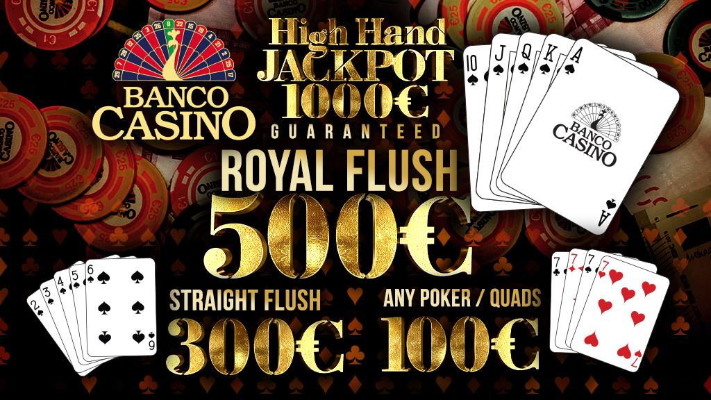 Cash Game High Hand Jackpot - gewinnen Sie täglich!
