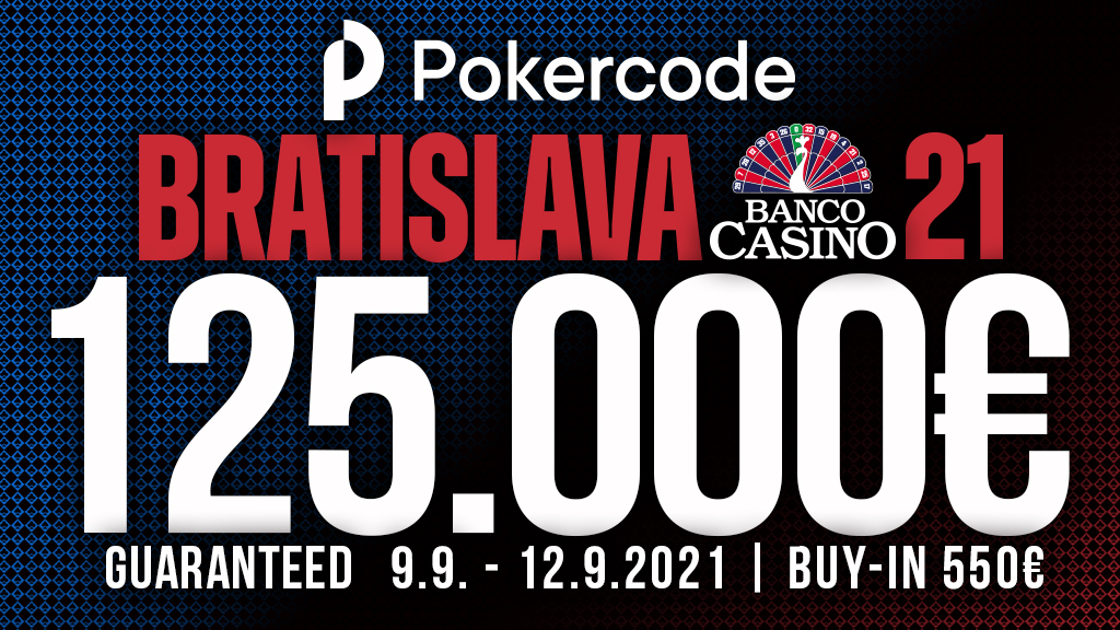 Pokercode with a 125,000€ GTD Main Event and an exclusive highroller with 5,000€ buy-in at Banco Casino in September!