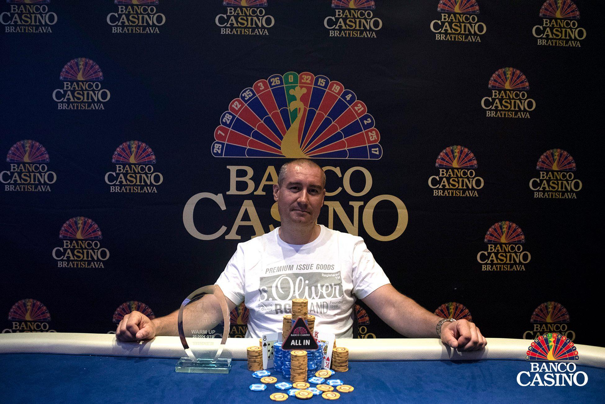 Gabriel Ižo gewann ohne Deal € 4.250 und wurde Banco Casino Masters Warm Up Sieger!